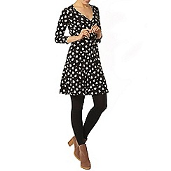 Dorothy Perkins - Black leopard heart wrap dress