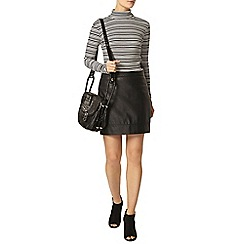 Dorothy Perkins - Monochrome stripe roll neck top