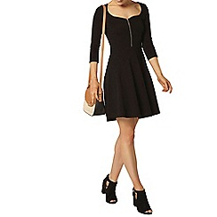 Dorothy Perkins - Black zip sweetheart dress