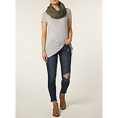 Dorothy Perkins - Grey marl tie side t-shirt