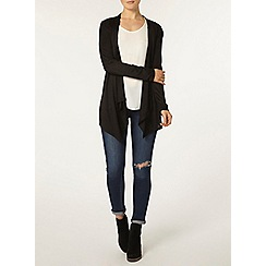 Dorothy Perkins - Black belt waterfall cardigan