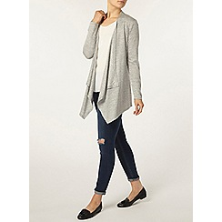 Dorothy Perkins - Grey marl waterfall cardigan