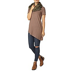 Dorothy Perkins - Coffee asymmetric hem t-shirt