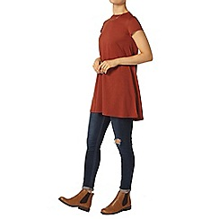 Dorothy Perkins - Rust mock neck swing tunic