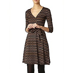 Dorothy Perkins - Tall black and tan wrap dress