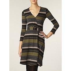Dorothy Perkins - Tall stripe d-ring wrap dress