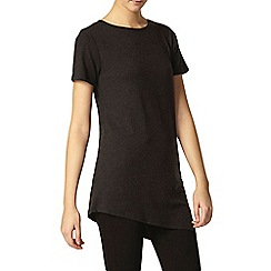 Dorothy Perkins - Tall charcoal asymmetric t-shirt