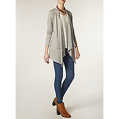 Dorothy Perkins - Tall grey belt waterfall cardigan