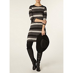 Dorothy Perkins - Black textured stripe tunic