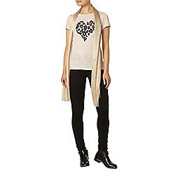 Dorothy Perkins - Oat leopard heart sequin t-shirt