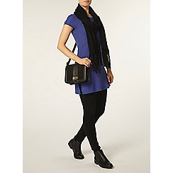 Dorothy Perkins - Blue rib side split tunic