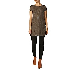 Dorothy Perkins - Toffee side split tunic