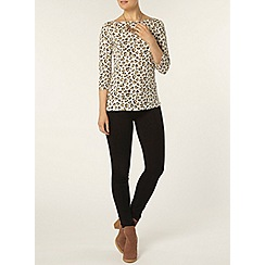 Dorothy Perkins - Heart print 3/4 sleeve top