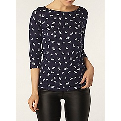 Dorothy Perkins - Ditsy floral 3/4 sleeve top