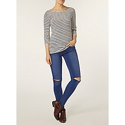 Dorothy Perkins - Navy stripe 3/4 sleeve top