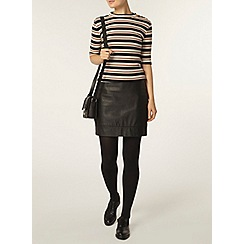 Dorothy Perkins - Stripe button mock neck top