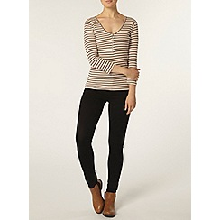 Dorothy Perkins - Oat stripe zip top