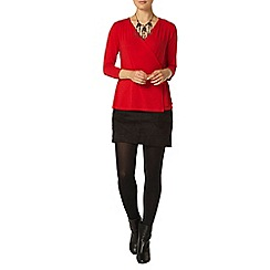 Dorothy Perkins - Red 3/4 sleeve wrap top