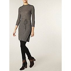 Dorothy Perkins - Tall grey mock neck belt tunic