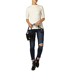 Dorothy Perkins - Ivory rib mock neck top