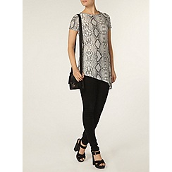 Dorothy Perkins - Grey snake asymmetric t-shirt