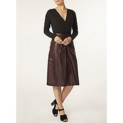 Dorothy Perkins - Charcoal soft wrap body