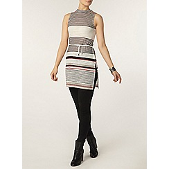 Dorothy Perkins - Red stripe mock neck tunic