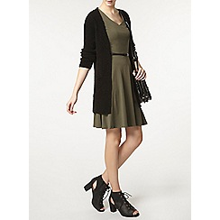 Dorothy Perkins - Tall khaki v neck belted dress