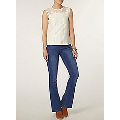 Dorothy Perkins - Ivory mixed lace shell top