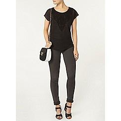 Dorothy Perkins - Lace panel t-shirt
