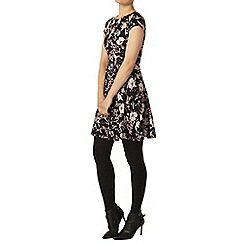 Dorothy Perkins - Black botanical belted dress