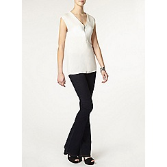 Dorothy Perkins - Tall ivory zip front top