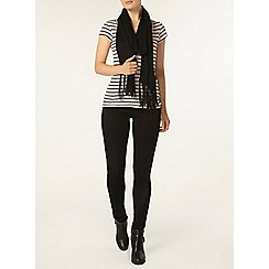 Dorothy Perkins - Rose and navy stripe sweetheart top