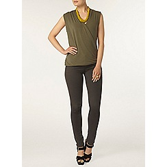 Dorothy Perkins - Khaki wrap top