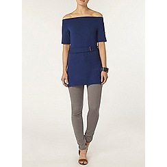 Dorothy Perkins - Blue bardot belted tunic