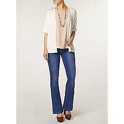 Dorothy Perkins - Ivory wrap belted cardigan