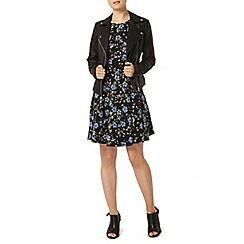Dorothy Perkins - Blue floral tie side dress