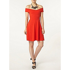 Dorothy Perkins - Red bardot dress