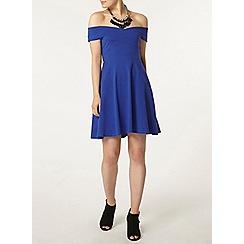 Dorothy Perkins - Blue bardot dress