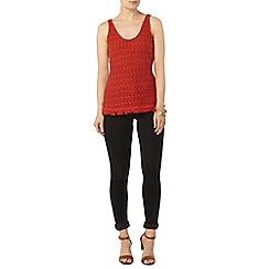 Dorothy Perkins - Brick trim textured vest top