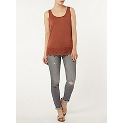 Dorothy Perkins - Brick double scallop hem vest