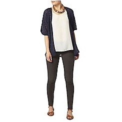 Dorothy Perkins - Navy textured lace cardigan