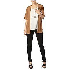 Dorothy Perkins - Toffee textured lace cardigan