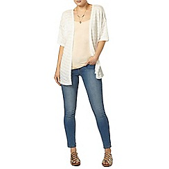 Dorothy Perkins - Ivory textured lace cardigan