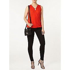 Dorothy Perkins - Red metal bar wrap top