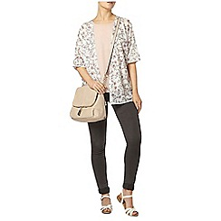 Dorothy Perkins - Ivory floral textured cardigan