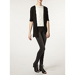 Dorothy Perkins - Tall black wrap belted cardigan