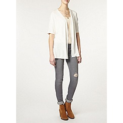 Dorothy Perkins - Tall ivory wrap belted cardigan