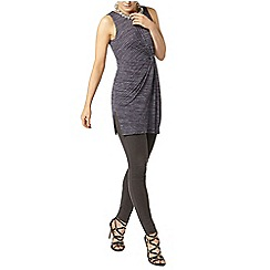 Dorothy Perkins - Grey manipulated tunic