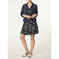 Dorothy Perkins - Blue floral button cami dress